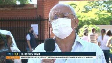 Confira a agenda do candidato Demerval Silvestre à prefeitura de Paranavaí - Candidato visitou cemitérios da cidade durante a manhã.