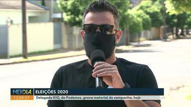 Confira a agenda do candidato delegado KIQ à prefeitura de Paranavaí - Candidato gravou material de campanha.