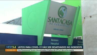 Santa Casa de Paranavaí desativa parte dos leitos para Covid-19 - Em Cianorte e Umuarama alguns leitos de combate ao coronavírus também estão sendo desativados.