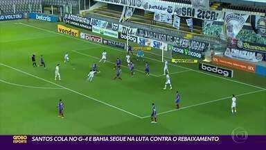 Santos vence o Bahia por 3 a 1, e Goiás e Vasco ficam no 1 a 1 - Santos vence o Bahia por 3 a 1, e Goiás e Vasco ficam no 1 a 1