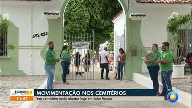 Cemitérios adotam protocolos para dar segurança aos visitantes - Movimentação dos cemitérios no Dia de Finados em JP e CG.