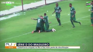 Cabofriense chega ao quarto jogo seguido sem perder, na Série D - Tricolor Praiano empatou fora de casa com a Portuguesa, em 2 a 2.