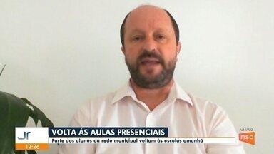 Jefferson Saavedra: expectativa da volta às aulas presenciais em Joinville - Jefferson Saavedra: expectativa da volta às aulas presenciais em Joinville