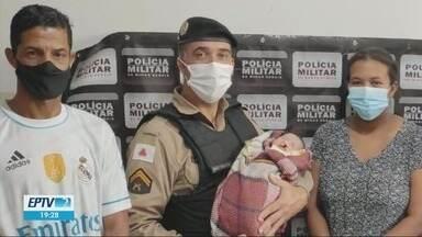 Policial militar salva bebê de 18 dias que estava engasgado e desacordado - Policial militar salva bebê de 18 dias que estava engasgado e desacordado em Santa Rita do Sapucaí