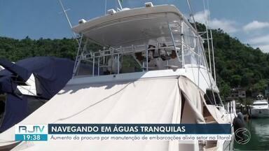 Aumento da procura por manutenção de embarcações traz alivio para setor em Angra dos Reis - Movimento por manutenção nas marinas e oficinas marítimas do litoral é grande antes mesmo da chegada do verão.