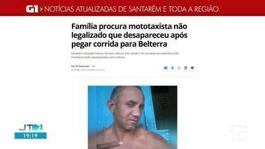 Família procura mototaxista que desapareceu após pegar corrida para Belterra, no Pará - Edvaldo Conceição Passos, 46 anos, não foi visto desde o fim da tarde de sexta-feira (30). Familiares estão desesperados sem notícias.