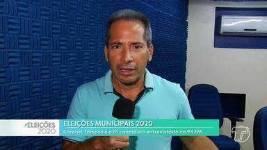 Coronel Tomaso (Patriota) é o sexto entrevistado na rádio 94 FM, em Santarém - Candidato respondeu perguntas sorteados e uma feita por ouvinte.