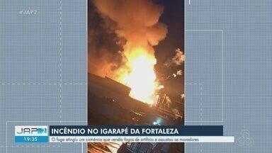 Incêndio entre Macapá e Santana atinge comércio que vendia fogos de artifício - Incêndio entre Macapá e Santana atinge comércio que vendia fogos de artifício