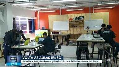 Escolas de cidades de SC retomam aulas presenciais - Escolas de cidades de SC retomam aulas presenciais