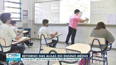 A retomada de aulas presenciais de novas turmas na capital - Saiba mais em g1.com.br/ce