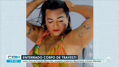 Enterrado corpo de travesti baleada na Avenida Beira-mar de Fortaleza - Saiba mais em g1.com.br/ce