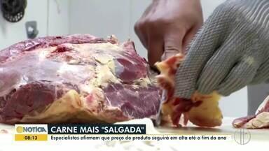 Preço da carne segue alto em função da valorização do dólar - Produtores preferem exportar para países como a China, principal compradora.