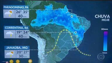Previsão do tempo: temporais continuam no Nordeste - Os temporais na Bahia, no Piauí e no Maranhão só devem parar no domingo (8), A previsão é de bastante chuva para esses estados. Há previsão de geada nesta quinta (5) em algumas regiões de Santa Catarina e Rio Grande do Sul.