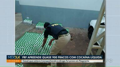 PRF apreende quase 900 frascos de cocaína líquida - Apreensão aconteceu em Campo Mourão.