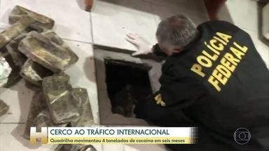 33 pessoas são presas em uma operação contra o tráfico internacional no Rio Grande do Sul - Mais de 300 policiais federais participaram da ação. Quadrilha movimentou 4 toneladas de cocaína em seis meses.