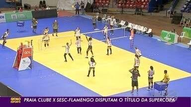 Praia Clube e Sesc Flamengo com força máxima para a disputa da Supercopa Feminina de Vôlei - Times fizeram o reconhecimento do ginásio Guanandizão, em Campo Grande