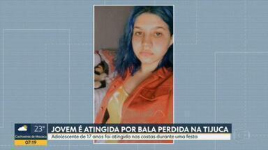 Adolescente é atingida por bala perdida na Tijuca - Jovem de 17 anos estava numa festa de aniversário, na varanda de um apartamento na Tijuca.