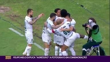"""Felipe Melo explica """"agressão"""" a fotógrafo do Palmeiras em comemoração - Felipe Melo explica """"agressão"""" a fotógrafo do Palmeiras em comemoração"""