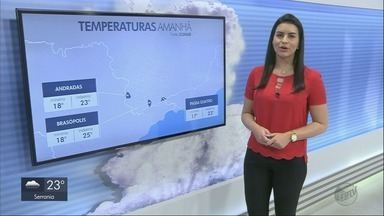 Confira a previsão do tempo para os próximos dias no Sul de MG - Confira a previsão do tempo para os próximos dias no Sul de MG