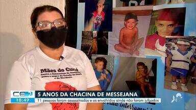 Cinco anos da chacina de Messejana e nenhum julgamento - Saiba mais no g1.com.br/ce