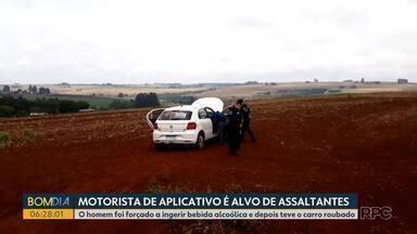 Motorista de aplicativo é alvo de bandidos - O homem foi forçado a ingerir bebida alcoólica e depois teve o carro roubado.