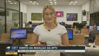 Covid-19: novo decreto em Araraquara traz mais flexibilizações - A jornalista Ana Rosa Marinho tem mais informações.