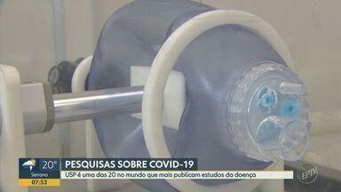 USP se destaca como uma das 20 no mundo que mais publicam estudos da Covid-19 - Segundo a instituição, apenas no Instituo de Física da USP em São Carlos (SP) foram publicados mais de 40 estudos sobre a doença.