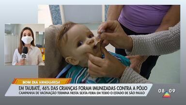 Em Taubaté, 46% das crianças foram imunizadas contra a pólio - Campanha de vacinação termina nesta sexta-feira em todo o estado de São Paulo.