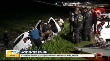Acidentes deixam quatro pessoas com ferimentos leves, em Belo Horizonte - Entre a noite de quarta-feira e a madrugada de quinta, foram registrados pelo menos três acidentes na capital.