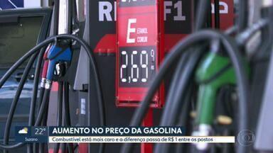 Petrobras autoriza reajuste nos combustíveis; na capital, tem posto com preços mais altos que na semana passada - E nos postos de gasolina, também tem uma grande variação nos preços.
