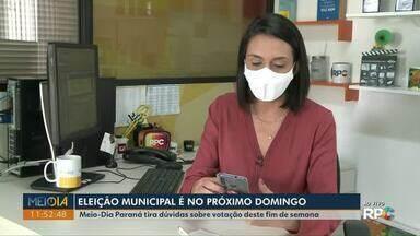 Meio-Dia Paraná tira dúvidas sobre as eleições municipais - Entre as dúvidas dos telespectadores, está a de quais documentos levar no dia da votação.