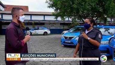 Polícia Militar realiza planejamento de segurança para o domingo eleitoral - Organização evita transtornos e tumultos possíveis durante a votação.