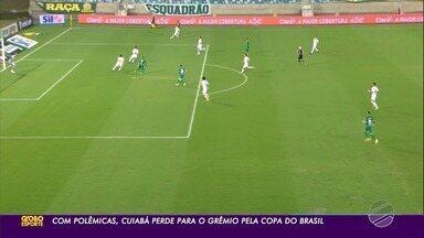 Em jogo com polêmicas, Cuiabá perde para o Grêmio na ida das quartas da Copa do Brasil - Em jogo com polêmicas, Cuiabá perde para o Grêmio na ida das quartas da Copa do Brasil.