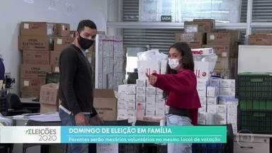 Mesários da mesma família trabalham no mesmo local de votação - O domingo de eleição será em família para mesários que trabalharão nos locais de votação. E em Hortolândia, quase todos os mesários são voluntários.