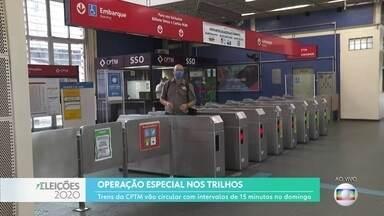 Prefeitura e Governo do Estado preparam esquema especial no transporte para as eleições - Na CPTM, trens circularão com intervalo de 15 minutos. SPTrans colocará 65% da frota nas ruas neste domingo.
