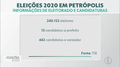 Confira os dados do eleitorado de Petrópolis, no RJ - Petrópolis é a que tem o maior número de eleitores aptos e a única em que há a possibilidade da decisão ir para o segundo turno.