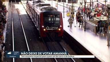 Tem esquema especial no transporte público para votação amanhã na capital - Minhocão fica aberto e zona azul está liberada