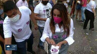 Gloria Heloiza (PROS) faz campanha em Campo Grande na véspera das eleições - Gloria Heloiza (PROS) faz campanha em Campo Grande na véspera das eleições.
