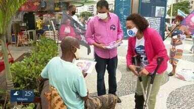 Suêd Haidar (PMB) faz campanha em Copacabana na véspera das eleições - Suêd Haidar (PMB) faz campanha em Copacabana na véspera das eleições.