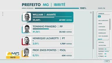 Prefeito de Ibirité é reeleito - William Parreira, do Avante, teve 55,44% dos votos válidos.