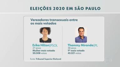 Pela primeira vez uma candidata transexual é eleita vereadora na Câmara Municipal de SP - Erika Hilton, do PSOL, foi também a mulher mais votada.