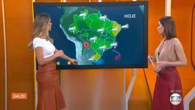 Previsão é de chuva em grande parte do Brasil nesta terça-feira (17) - Pode chover forte na capital Paulista. O alerta de temporal vale para o leste do Paraná, de Santa Catarina. Previsão de chuva também em parte do Amazonas, Pará, Tocantins, Mato Grosso e Goiás. Deve chover no oeste da Bahia. Confira a previsão do tempo para todo o país.
