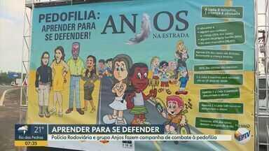 Policia Rodoviária de Campinas faz campanha de combate à pedofilia com caminhoneiros - Ação acontece nesta terça-feira (17) na base da Polícia Rodoviária, em Campinas (SP), das 8h às 13h.