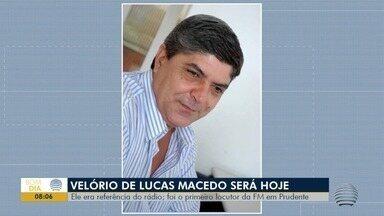 Radialista Lucas Macedo morre em Presidente Prudente - Velório e será no Cemitério Municipal Campal.