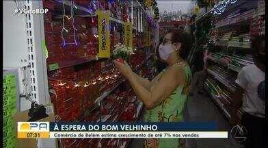 Comércio de Belém estima crescimento de até 7% nas vendas de fim de ano - Comércio de Belém estima crescimento de até 7% nas vendas de fim de ano.
