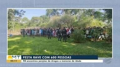 PM encerra festa Rave com 600 participantes, drogas foram apreendidas - PM encerra festa Rave com 600 participantes, drogas foram apreendidas