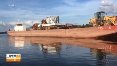 Apagão: Transformador de Laranjal do Jari está a caminho de Macapá, através de balsa - Apagão: Transformador de Laranjal do Jari está a caminho de Macapá, através de balsa