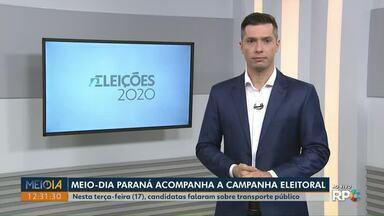 Candidatas à Prefeitura de Ponta Grossa falam sobre transporte público nesta terça (17) - Meio-Dia Paraná acompanha campanha eleitoral das duas concorrentes.