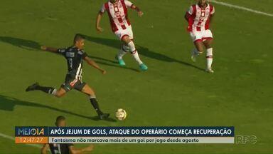 Depois de jejum de gols, ataque do Operário volta a respirar - Vitória contra Náutico foi alívio para quem vinha com dificuldade de balançar as redes.