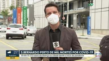 São Bernardo do Campo, no ABC paulista, registra alta no número de mortes por coronavírus - Dados preocupam gestão municipal